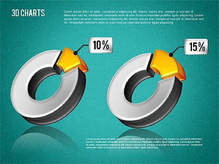 3D Pie Diagram Toolbox, Slide 11, 01611, Pie Charts — PoweredTemplate.com