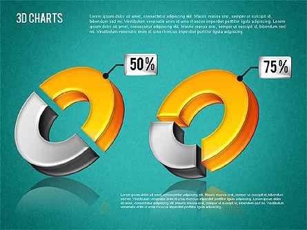 3D Pie Diagram Toolbox, Slide 13, 01611, Pie Charts — PoweredTemplate.com