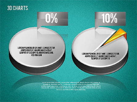 3D Pie Diagram Toolbox, Slide 14, 01611, Pie Charts — PoweredTemplate.com