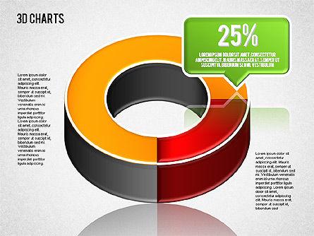 3D Pie Diagram Toolbox, Slide 5, 01611, Pie Charts — PoweredTemplate.com