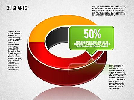 3D Pie Diagram Toolbox, Slide 6, 01611, Pie Charts — PoweredTemplate.com