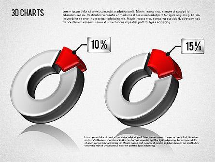 3D Pie Diagram Toolbox, Slide 8, 01611, Pie Charts — PoweredTemplate.com