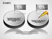 Pie Charts: 3D Pie Diagram Toolbox #01611