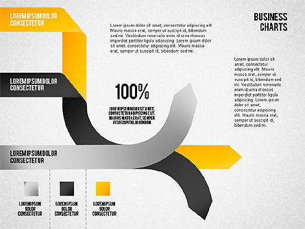 Pie Chart from Colored Tape, Slide 8, 01614, Pie Charts — PoweredTemplate.com