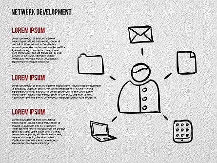 Network Development Shapes, Slide 2, 01615, Business Models — PoweredTemplate.com