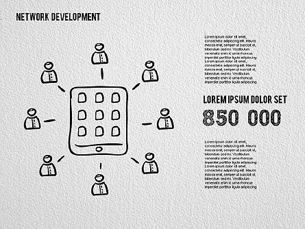 Network Development Shapes, Slide 3, 01615, Business Models — PoweredTemplate.com