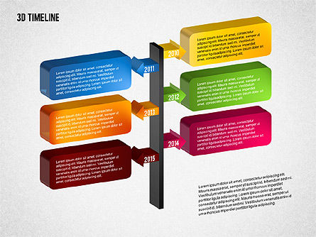 3D Timeline with Textboxes, Slide 10, 01616, Timelines & Calendars — PoweredTemplate.com