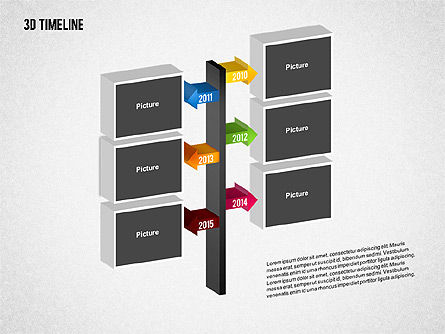 3D Timeline with Textboxes, Slide 11, 01616, Timelines & Calendars — PoweredTemplate.com