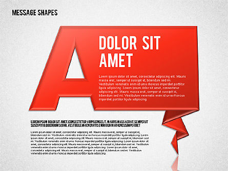 Dialog Shapes, 01618, Shapes — PoweredTemplate.com