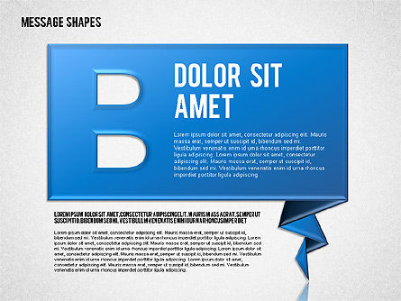 Dialog Shapes, Slide 2, 01618, Shapes — PoweredTemplate.com
