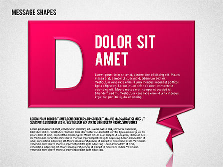 Dialog Shapes, Slide 4, 01618, Shapes — PoweredTemplate.com