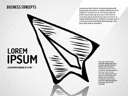 Sketch Style Business Shapes Set Slide 3