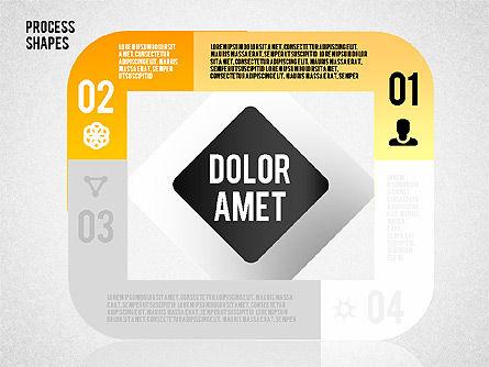 Step by Step Process Shapes, Slide 11, 01621, Process Diagrams — PoweredTemplate.com