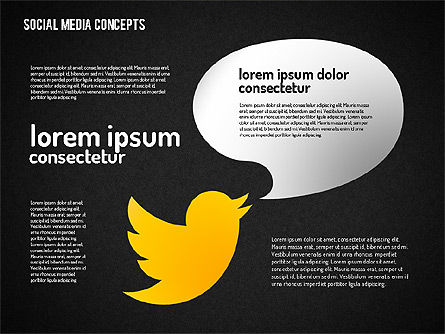 Social Media Concept, Slide 12, 01622, Business Models — PoweredTemplate.com