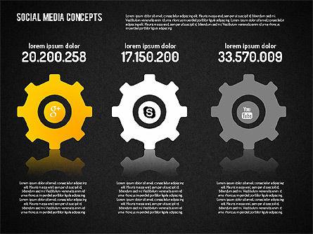 Social Media Concept, Slide 16, 01622, Business Models — PoweredTemplate.com