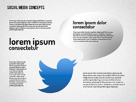 Social Media Concept, Slide 4, 01622, Business Models — PoweredTemplate.com