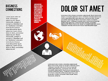 Polylines Style Diagram, Slide 2, 01623, Business Models — PoweredTemplate.com