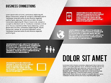 Polylines Style Diagram, Slide 3, 01623, Business Models — PoweredTemplate.com
