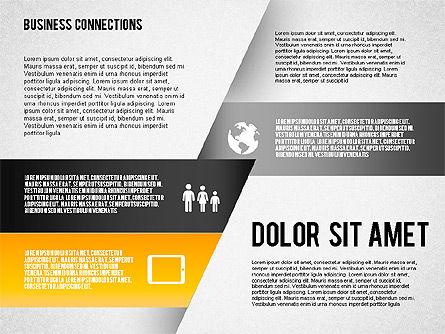 Polylines Style Diagram, Slide 4, 01623, Business Models — PoweredTemplate.com