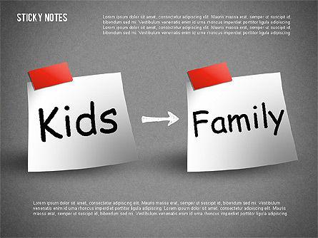 Sticky Notes, Slide 11, 01628, Shapes — PoweredTemplate.com