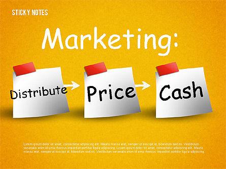 Sticky Notes, Slide 14, 01628, Shapes — PoweredTemplate.com