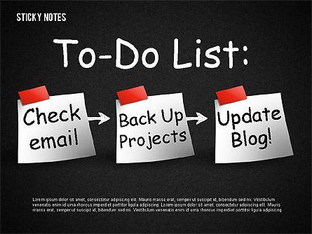 Sticky Notes, Slide 2, 01628, Shapes — PoweredTemplate.com