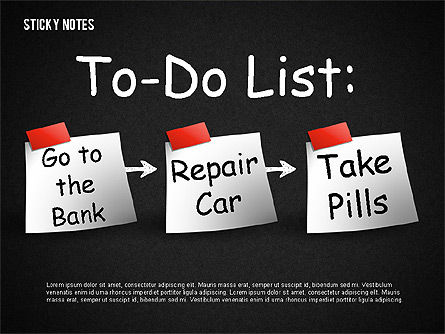 Sticky Notes, Slide 5, 01628, Shapes — PoweredTemplate.com