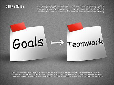 Sticky Notes, Slide 7, 01628, Shapes — PoweredTemplate.com
