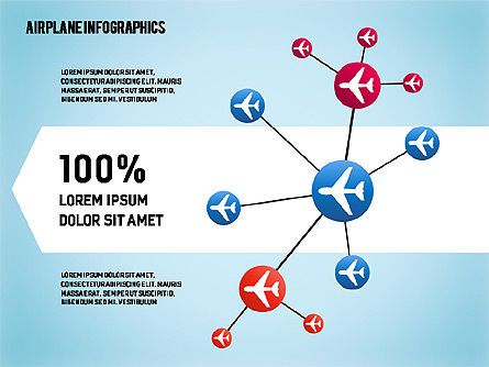 Airplane Infographics, 01632, Business Models — PoweredTemplate.com