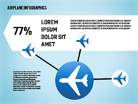Airplane Infographics, Slide 4, 01632, Business Models — PoweredTemplate.com