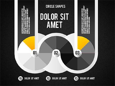 Segmented Round Shapes, Slide 12, 01633, Stage Diagrams — PoweredTemplate.com