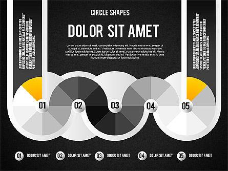 Segmented Round Shapes, Slide 13, 01633, Stage Diagrams — PoweredTemplate.com