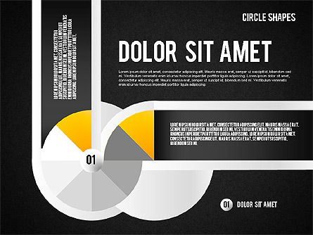 Segmented Round Shapes, Slide 14, 01633, Stage Diagrams — PoweredTemplate.com