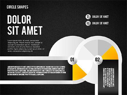 Segmented Round Shapes, Slide 15, 01633, Stage Diagrams — PoweredTemplate.com