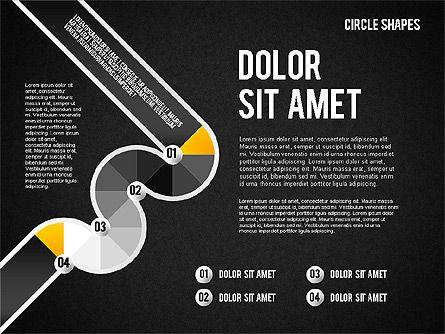 Segmented Round Shapes, Slide 16, 01633, Stage Diagrams — PoweredTemplate.com