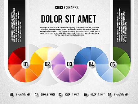 Segmented Round Shapes, Slide 5, 01633, Stage Diagrams — PoweredTemplate.com