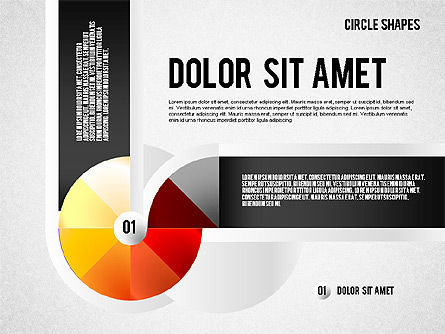 Segmented Round Shapes, Slide 6, 01633, Stage Diagrams — PoweredTemplate.com