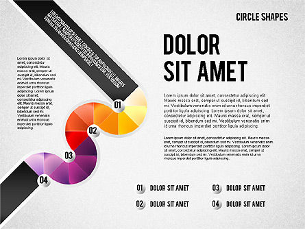 Segmented Round Shapes, Slide 8, 01633, Stage Diagrams — PoweredTemplate.com