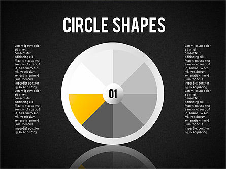 Segmented Round Shapes, Slide 9, 01633, Stage Diagrams — PoweredTemplate.com
