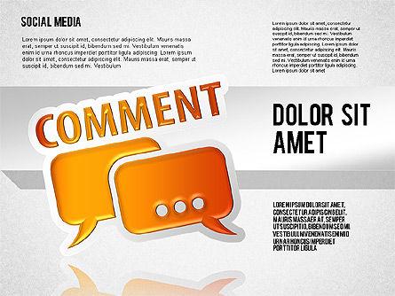 Social Media Toolbox, Slide 2, 01635, Shapes — PoweredTemplate.com