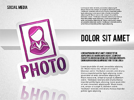 Social Media Toolbox, Slide 4, 01635, Shapes — PoweredTemplate.com