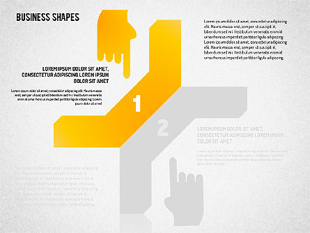 Stepwise Shapes, Slide 15, 01636, Stage Diagrams — PoweredTemplate.com