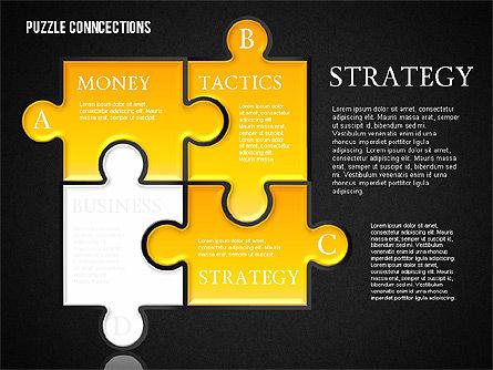 Puzzle Connections, Slide 11, 01637, Puzzle Diagrams — PoweredTemplate.com
