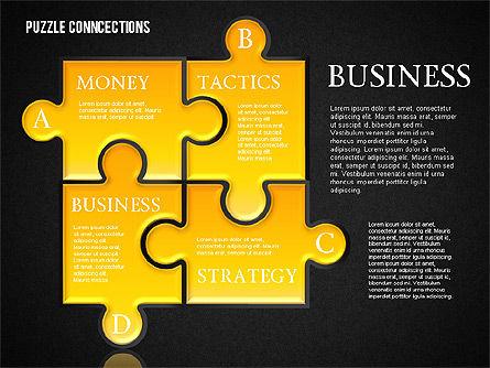 Puzzle Connections, Slide 12, 01637, Puzzle Diagrams — PoweredTemplate.com