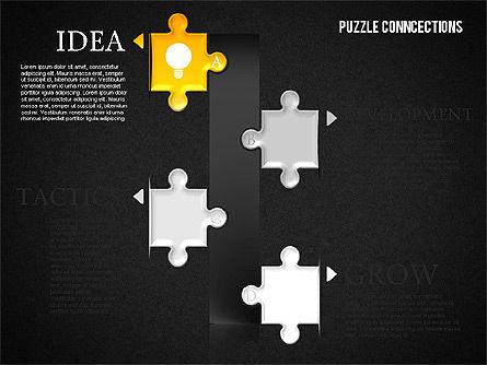 Puzzle Connections, Slide 13, 01637, Puzzle Diagrams — PoweredTemplate.com