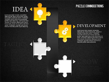 Puzzle Connections, Slide 14, 01637, Puzzle Diagrams — PoweredTemplate.com