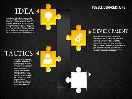 Puzzle Connections, Slide 15, 01637, Puzzle Diagrams — PoweredTemplate.com