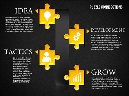 Puzzle Connections, Slide 16, 01637, Puzzle Diagrams — PoweredTemplate.com