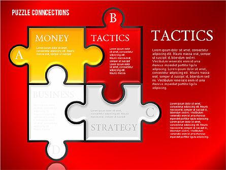 Puzzle Connections, Slide 2, 01637, Puzzle Diagrams — PoweredTemplate.com