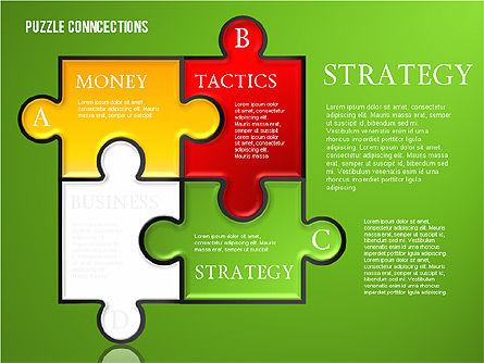 Puzzle Connections, Slide 3, 01637, Puzzle Diagrams — PoweredTemplate.com
